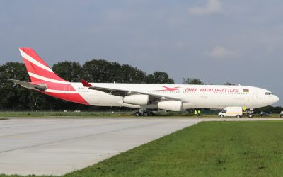 Air Mauritius A340 voor AELS
